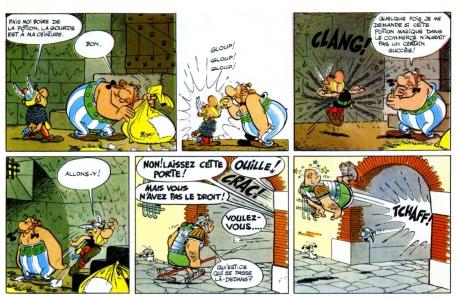 Una striscia in lingua originale di Asterix&Obelix