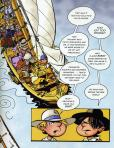 In the boat with her pal, Brandon. Two Bad Pilgrims by Kathryn Lasky (Viking 2009) Color by Vince Dorse.